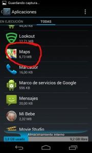 Aplicacion Maps en Ajustes