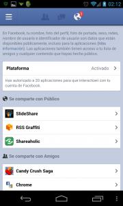 Ajustes Facebook Plataforma