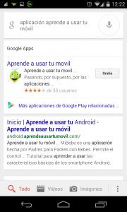 Pantallazo OK Google buscar aplicación