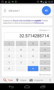 Pantallazo OK Google dividir