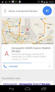 Pantallazo OK Google llamar a Barajas