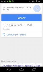 Pantallazo OK Google nota en agenda ejemplo 1