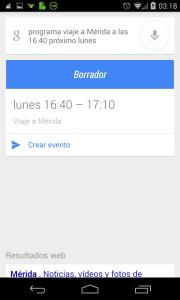 Pantallazo OK Google nota en agenda ejemplo 2