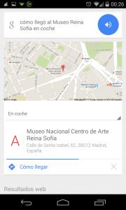 Pantallazo OK Google ruta