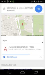 Pantallazo OK Google Ruta 2: Paso 1