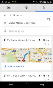 Pantallazo OK Google Ruta 2: Paso 2