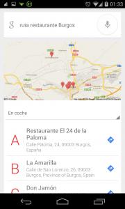 Pantallazo Ok Google Ruta 3: paso 1