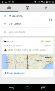 Pantallazo Ok Google Ruta 3: paso 2