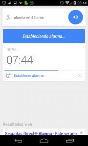 Pantallazo Ok Google anadir alarma ejemplo 1