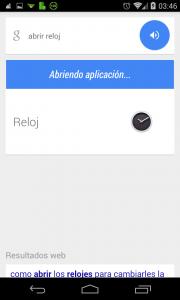 Pantallazo Ok Google ver alarmas